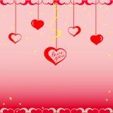 Día de la tarjeta del día de San Valentín s Fotografía de archivo
