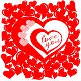 Día de la tarjeta del día de San Valentín s Imagenes de archivo