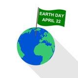 Día de la Tierra de la bandera - ejemplo Fotos de archivo