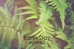 Día de la Tierra, el 22 de abril, imagen del concepto Imagen de archivo