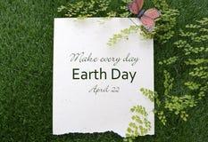 Día de la Tierra, el 22 de abril, imagen del concepto Foto de archivo