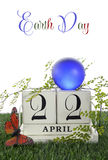Día de la Tierra, el 22 de abril, imagen del concepto Foto de archivo libre de regalías