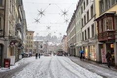 Día de la tormenta de la nieve Foto de archivo