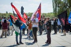 Día de la victoria en el parque de Treptower berlín Imagen de archivo