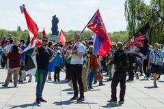Día de la victoria en el parque de Treptower berlín Imagenes de archivo