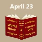 Día de libro y de derechos reservados de mundo stock de ilustración