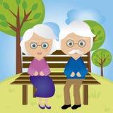 Día de los abuelos Imágenes de archivo libres de regalías