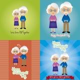 Día de los abuelos Imagenes de archivo