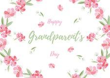 Día de los abuelos del ejemplo de los saludos del día de fiesta Imagen de archivo libre de regalías
