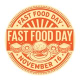 Día de los alimentos de preparación rápida, el 16 de noviembre ilustración del vector