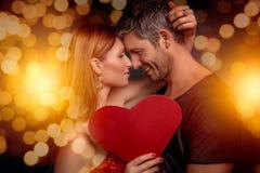 Día de los amantes de las tarjetas del día de San Valentín Fotos de archivo libres de regalías