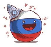 Día de los cosmonautas de Countryballs Rusia libre illustration