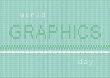 Día de los gráficos del mundo Imagenes de archivo