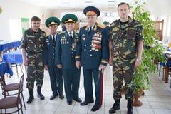 Día de los guardias fronterizos en Cherkassy Imágenes de archivo libres de regalías