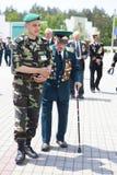 Día de los guardias fronterizos en Cherkassy Foto de archivo libre de regalías