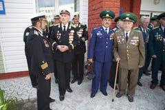 Día de los guardias fronterizos en Cherkassy Imagen de archivo libre de regalías