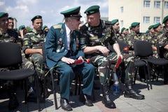 Día de los guardias fronterizos en Cherkassy Foto de archivo