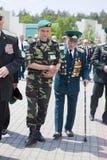 Día de los guardias fronterizos en Cherkassy Fotos de archivo libres de regalías