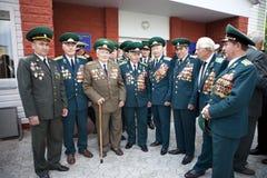 Día de los guardias fronterizos en Cherkassy Imagen de archivo