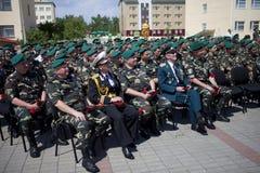 Día de los guardias fronterizos en Cherkassy Imagenes de archivo