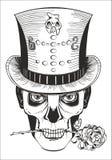 Día de los muertos, dibujo del samedi del barón Fotografía de archivo