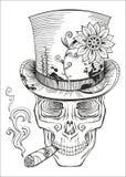 Día de los muertos, dibujo del samedi del barón Foto de archivo libre de regalías