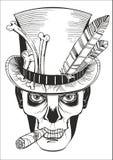 Día de los muertos, dibujo del samedi del barón Fotografía de archivo libre de regalías