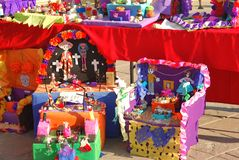 A Día de los Muertos display Royalty Free Stock Photography