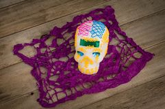 Día de los muertos en México Cráneo del azúcar Fotos de archivo