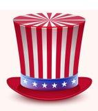 Día de los presidentes Cumpleaños de Washingtons Sombrero de los tío Sam Fotografía de archivo libre de regalías