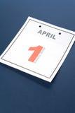 Día de los tontos del calendario Foto de archivo libre de regalías