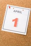 Día de los tontos del calendario Imagen de archivo libre de regalías