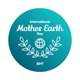 Día de madre tierra internacional, el 22 de abril stock de ilustración