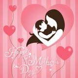 Día de madres en fondo de la raya stock de ilustración