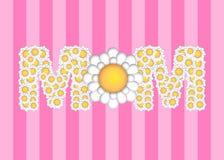 Día de madres feliz con el modelo de flores de la margarita libre illustration
