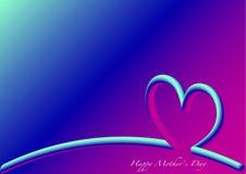 Día de madres feliz del horizonte, 3D fluorescente Fotos de archivo libres de regalías