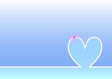 Día de madres feliz del horizonte, fondo azul claro Fotografía de archivo libre de regalías