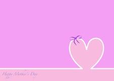 Día de madres feliz del horizonte, fondo rosado Foto de archivo