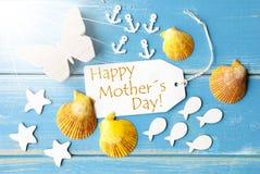 Día de madres feliz del texto de Sunny Summer Greeting Card With fotos de archivo libres de regalías