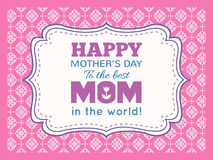 Día de madres feliz Tipo de la fuente de la letra de la tipografía Fotos de archivo libres de regalías