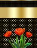 Día de madres, fondo abstracto, tulipán, tarjeta de felicitación stock de ilustración