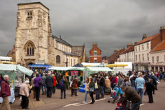 Día de mercado - Malton - Yorkshire - Inglaterra Foto de archivo libre de regalías