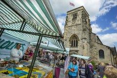 Día de mercado - Malton - Yorkshire - Inglaterra Imagen de archivo libre de regalías