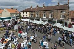 Día de mercado - Malton - Yorkshire - Inglaterra Fotografía de archivo libre de regalías