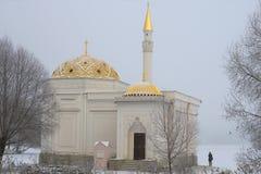 Día de niebla de noviembre del primer del baño turco del pabellón Imagen de archivo libre de regalías