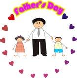 Día de padre feliz Fotografía de archivo libre de regalías