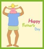 Día de padre feliz libre illustration