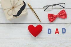 Día de padre feliz de la visión superior Fotografía de archivo