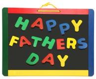 Día de padre feliz en la pizarra Foto de archivo libre de regalías