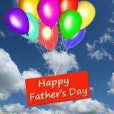 Día de padre feliz en una tarjeta Foto de archivo libre de regalías